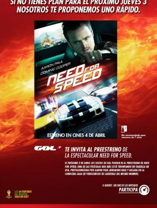 Need for Speed y Gol TV
